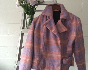 Pink Mohair Perfecto Motorcycle jacket