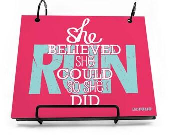 Running BibFOLIO Race Bib Album She Believed She Could - [tr-15497]