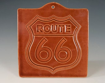 Route 66 decorative hanging tile
