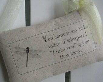 Dragonfly, Door Pillows, Door Decor, Cancer Survivor, Sympathy, Encouragement, Bereavement, Door Hanger, Woodland, Memorial, Family Name
