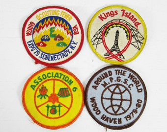 Vintage 70s Girl Scout Patches Lot of 4 Camp Wood Haven NY