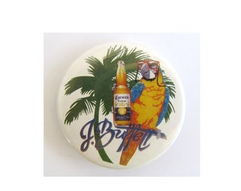 Vintage Jimmy Buffett Corona Beer Pin Pinback Badge
