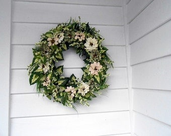 Organically Colored Spring Wreath