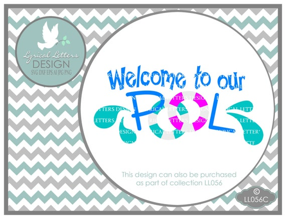 Welcome to our pool ll056 c svg graphic design cut file for Pool design graphic