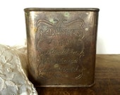 Vintage Silver Plate Tea Tin