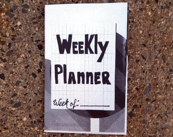 Cut and Paste Collage Weekly Planner Zine