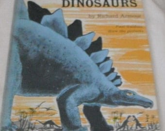 A Dozen Dinosaurs by Richard Armour Pictures by Paul Galdone  Vintage book