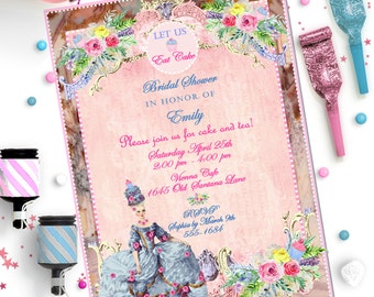 MARIE ANTOINETTE INVITATION ~ Personalized Printable Download