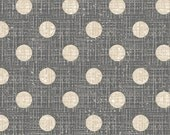 Madame et Homme - Dots Gray Tan by Larry Fanning from David Textiles