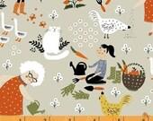 Gardening - Scenic Natural by Dinara Mirtalipova from Windham Fabrics