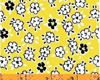 Playdate - Yellow Scattered Flower by MY-KT from Windham Fabrics