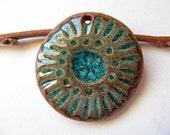 Woodland Flower Mandala Pendant