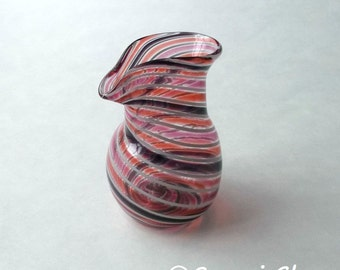 Small Pitcher - Purple Ryby Coral Stripe  :DISASTER RELIEF