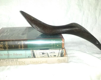 Rare Cast Iron Shoe Mold Victorian Pointed Toe 2 Sizes