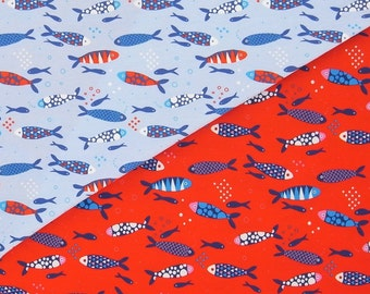 FISHES cotton elastane single jersey
