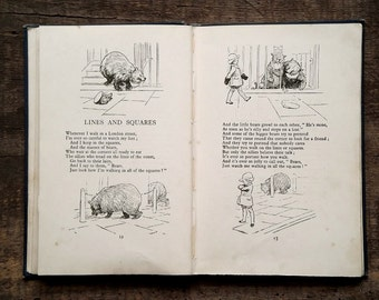 Vintage book by A. A. Milne illustrated by E. H. Shepard, When We Were Very Young
