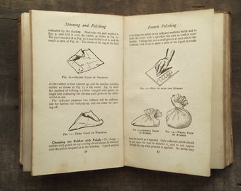 Vintage 1920s woodwork book Staining and Polishing