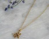 Fancy Gold Swirl Necklace