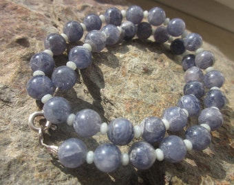 Iolite Amazonite Necklace:  Pepp Injection or Pluto AC
