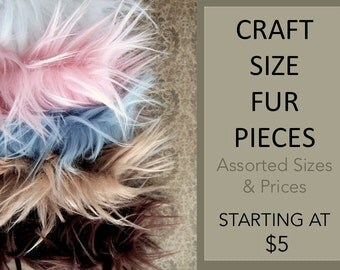 Craft Size Faux Fur, Scraps, Fur Fabric, Craft Fur, Costume, Faux Fur Fabric, Fur Trim, Fake Fur Remnants, Fabric Scrap Fur for Cosplay