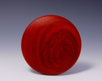 "A  5"" Padauk Round Wooden Rib for Throwing Perfect Bowls/Plates (© Copy right #TXu 1-961-453) by Master Potter Hsinchuen Lin 林新春"