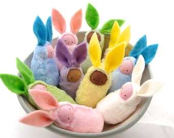 Kids easter gifts activities etsy easter bunny waldorf decor rabbit bunnies easter basket favor negle Images