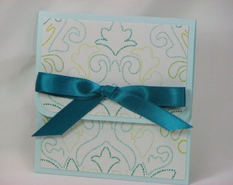 Light Blue & Dark Turquoise All Occasion Gift Card Holder