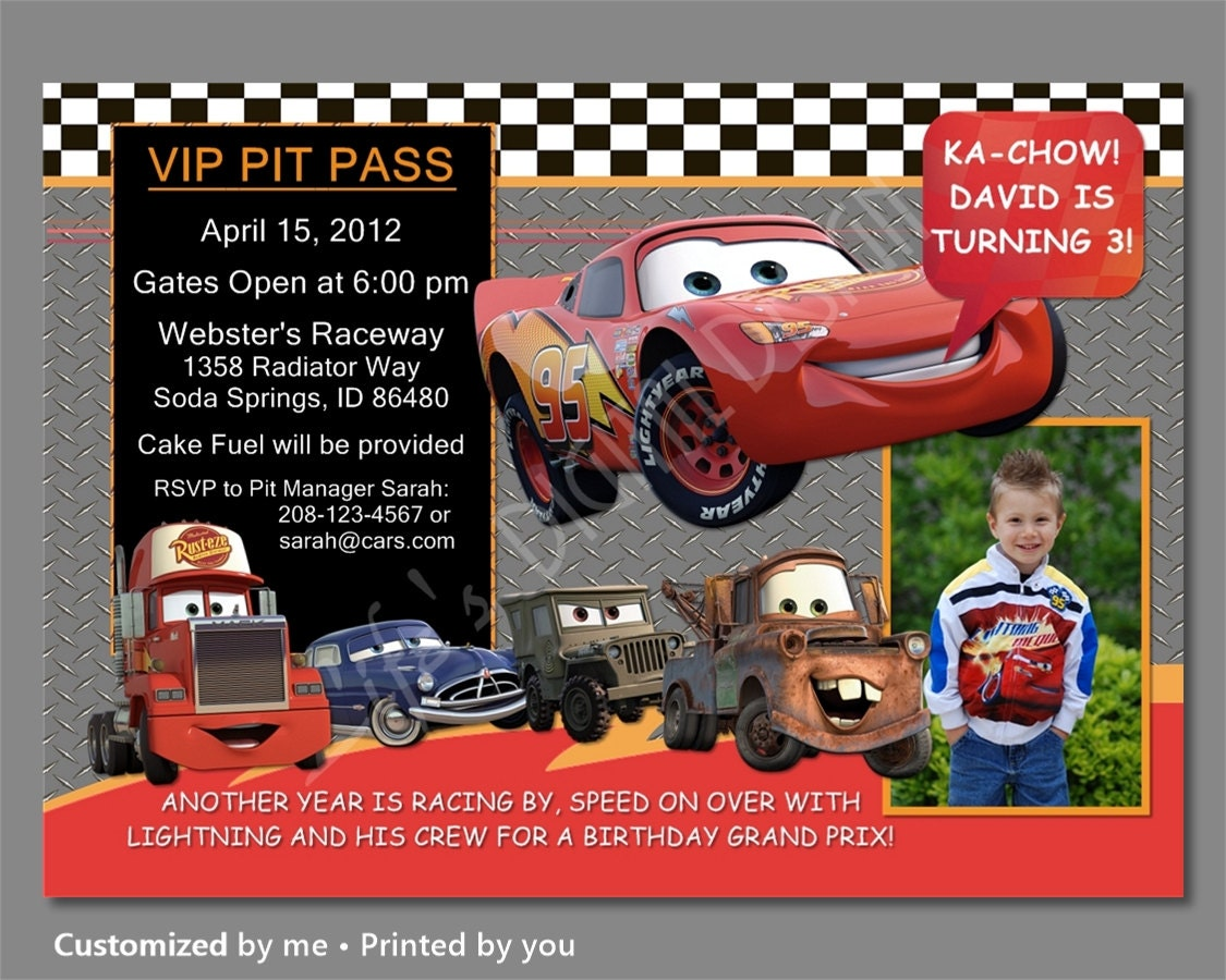 cars birthday invitations cars invitation lightning mcqueen 🔎zoom