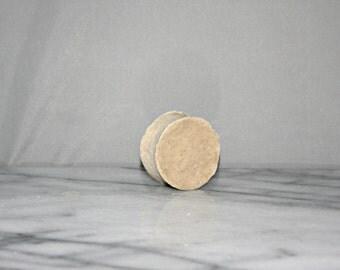 1 oz SIZE ALOE CHAMOMILE Vegan Italian Style Shaving Cream Soap- Kokum Butter, Babassu