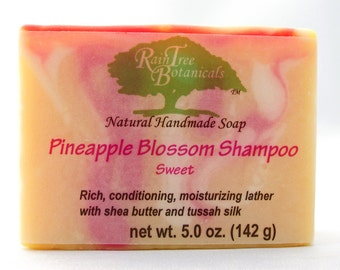 SHAMPOO// Pineapple Blossom Cold Process Luxury Soap with Jojoba