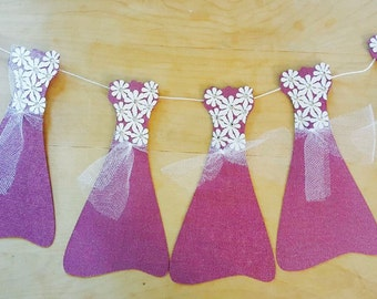 Purple Dress Paper Garland