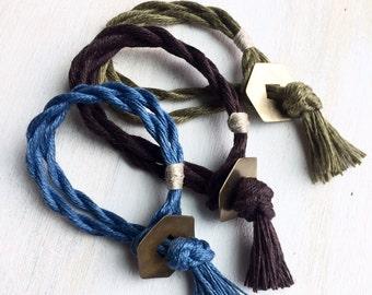 Sasha Wrap Bracelet. Vegan Jewelry