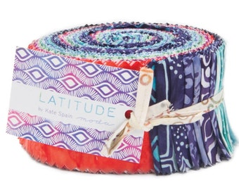 Latitude cotton Jelly roll  precuts by Kate Spain by Moda fabric