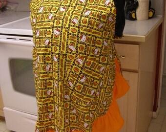 Plus size Hello Kitty Halloween apron