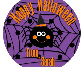 Spider Stickers, Halloween Stickers, Ghost Stickers, Goodie Bag Stickers, Bat Stickers, Halloween Party Favor, Trick or Treat Label (531)