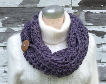 Lavender Heather Chunky Infinity Scarf