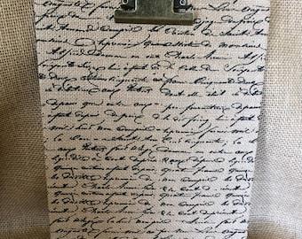 Script Burlap Clipboard