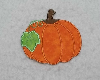 Pumpkin (small) Tutu & Shirt Supplies - fabric iron on Applique Patch 7777