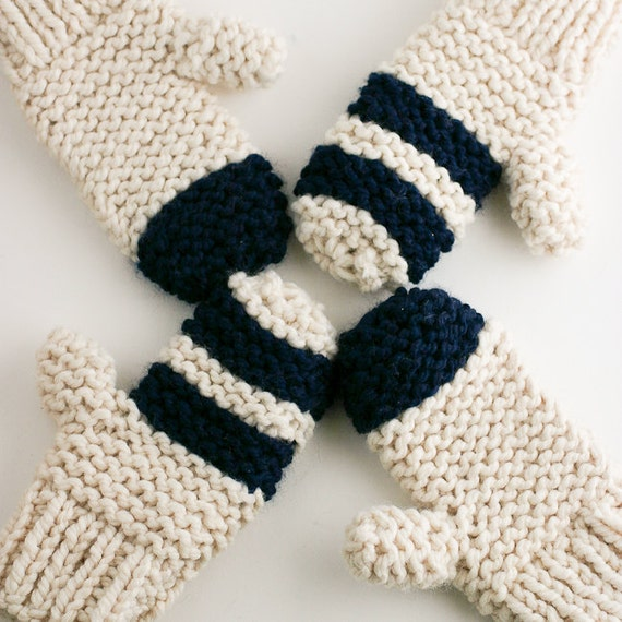 Free Knitting Patterns For Chunky Wool Mittens : Chunky Knit Mittens Pattern