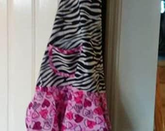Full Size Zebra/Heart Apron
