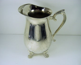 Vintage SILVERPLATE Water PITCHER Tarnish Patina WEDDiNG Vase