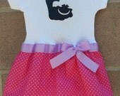 Chesire cat inspired baby girl outfit Alice in Wonderland
