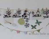 Set of 4 original mini papercut templates by Loula Belle at Home
