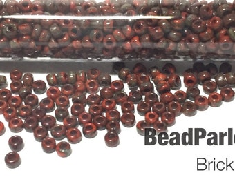Brick Picasso Glass Seed Beads - BP-4520 - Size 6/0 - 28 grams
