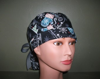 Winter ponytail scrub cap