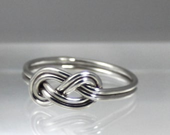 Double infinity Ring, Sterling Silver Ring, Stop Knot Ring, Nautical, Friendship, Eco Friendly, women, promise ring, bridesmaid gift, friend