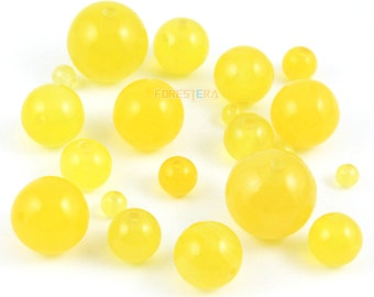 12mm Yellow Agate Bead Yellow Round Agate Bead for Jewelry (BEAD-A21-12)