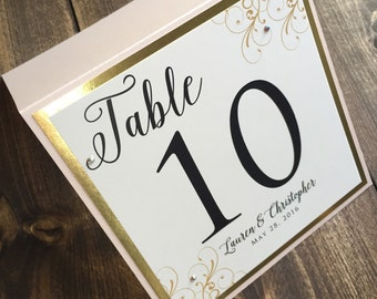 Wedding Table Numbers - Custom Wedding Table Numbers - Personalized Table Numbers