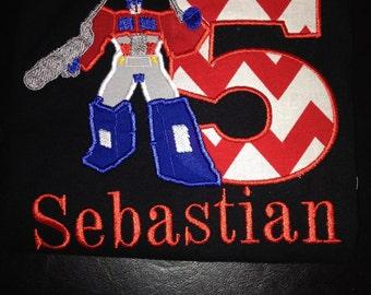 Transformer Birthday shirt