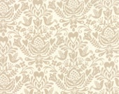 Tan and White Rosemaling Folk Art Fabric - North Woods by Kate Spain from Moda 1/2 Yard